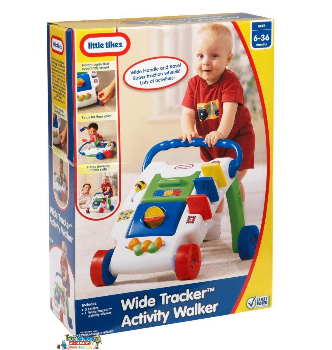 Xe đẩy tập đi kèm đồ chơi Little Tikes Wide Tracker & Activity Walker LT-627712M