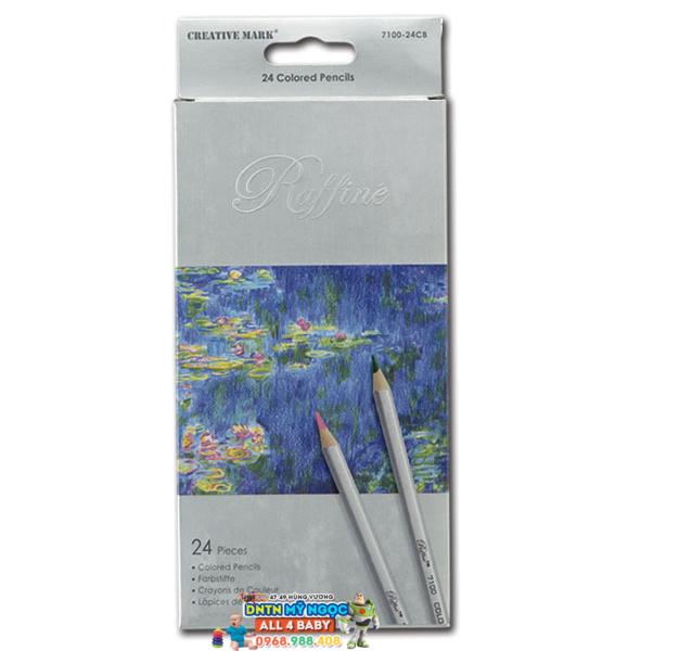 Bút chì màu gỗ 24 màu Marco 7100-24