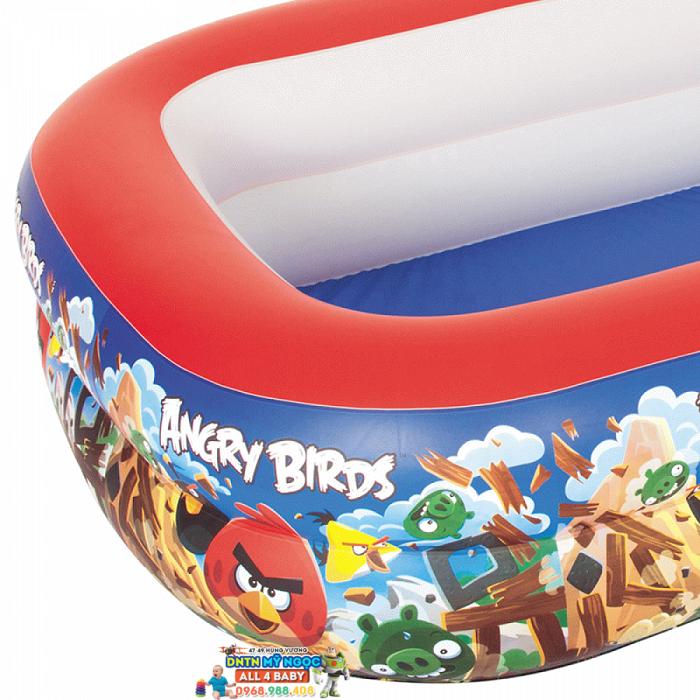 Hồ phao Disney Princess - Bể bơi hình chữ nhật Angry Birds 96109B