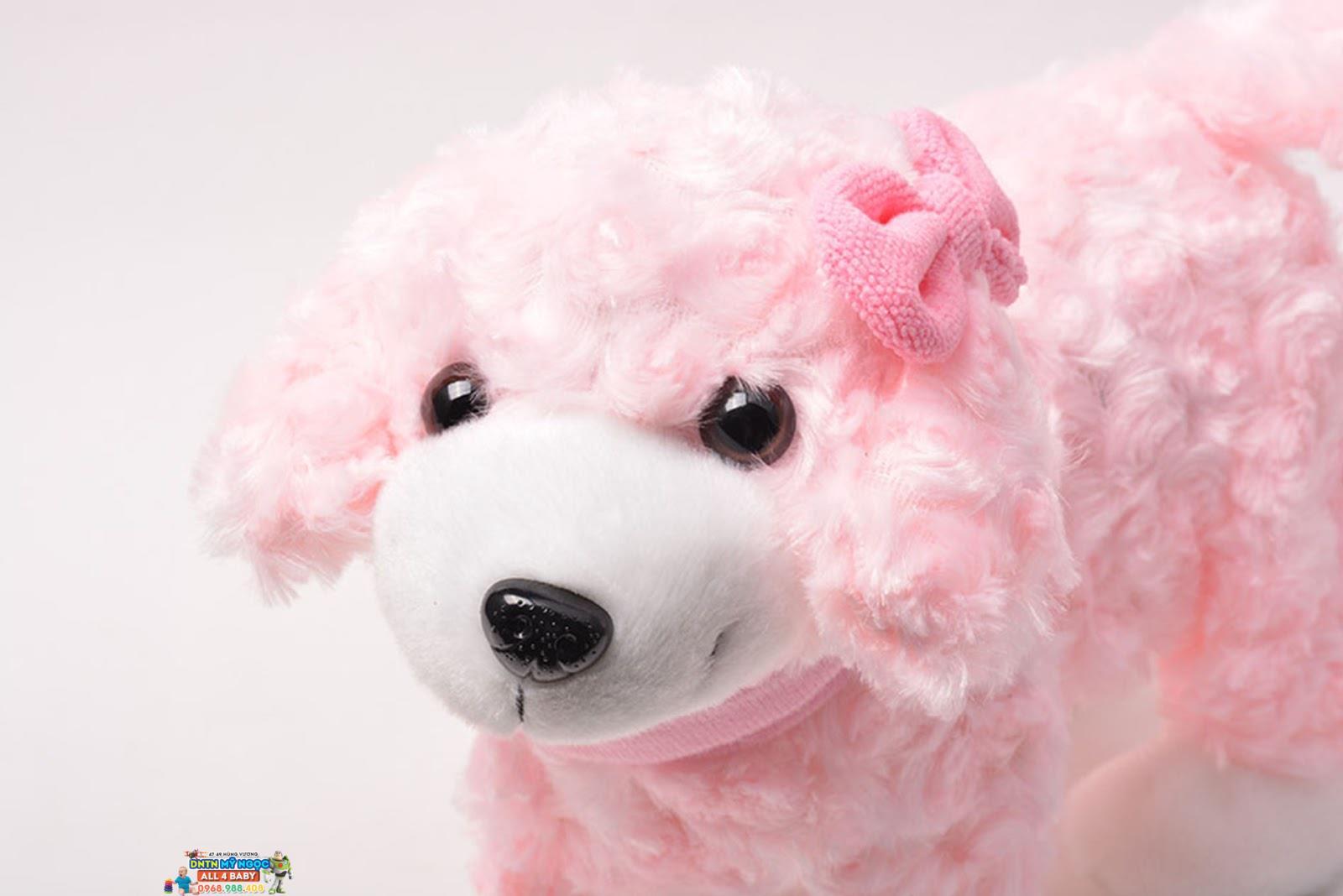 Đồ chơi chó xù hồng chạy pin 2846