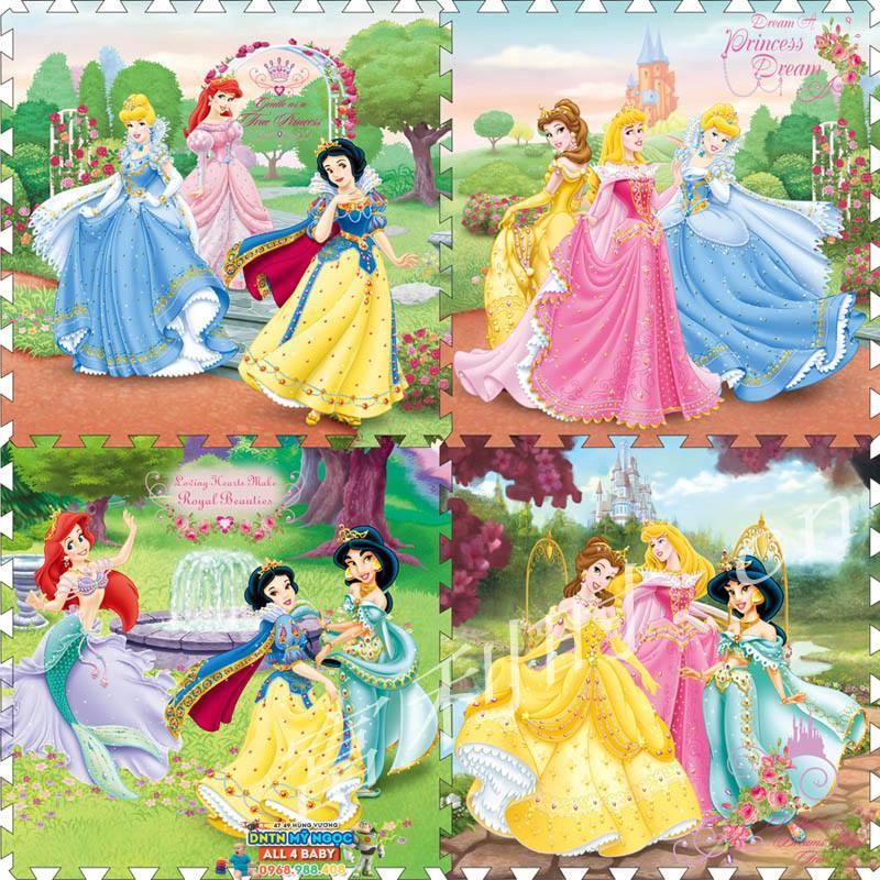 Thảm xốp nằm chơi Disney 60x60 (4 miếng)