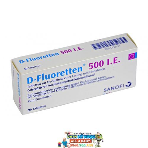 Vitamin D Fluoretten 500 I.E - Đức