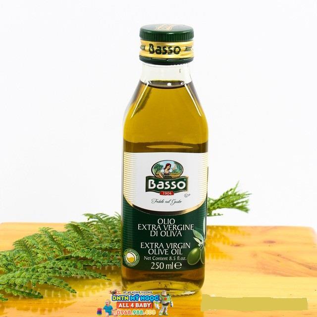 Dầu Oliu Extra Virgin Basso - Ý 250ml