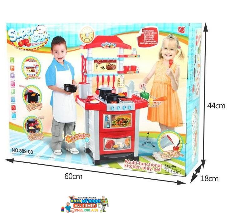 Đồ chơi nhà bếp lớn dùng pin Super Cook 889-03