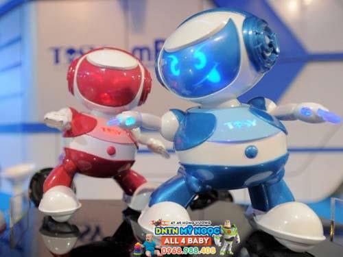 Đồ chơi Disco Robo Tosy - Lucas màu xanh phiên bản mới (Kèm Loa)