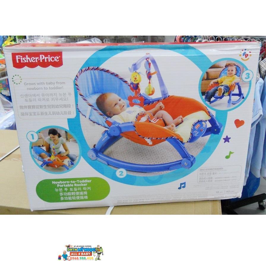 Ghế rung Fisher Price P0107 màu xanh