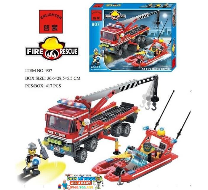 Hộp ráp đội cứu hỏa cano và xe chữa lửa 907