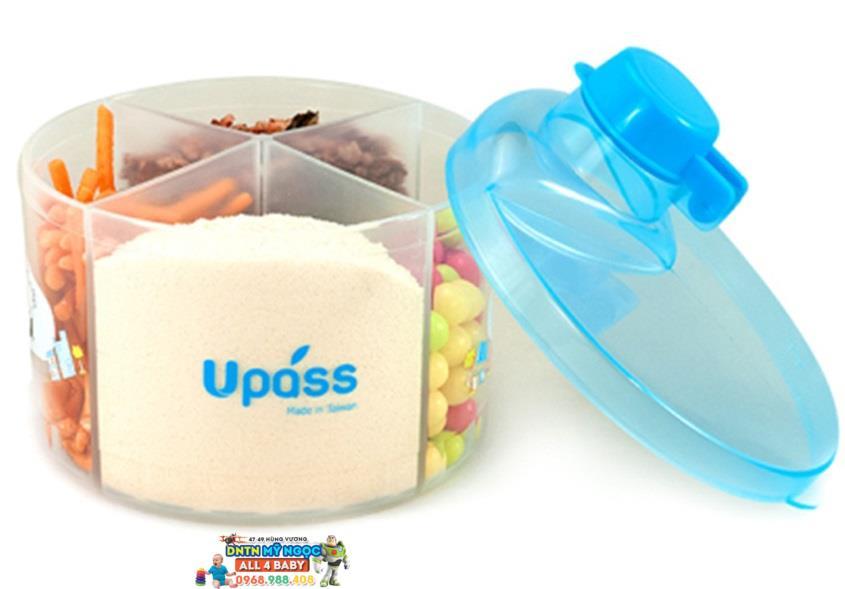Hộp chia sữa Upass tròn 4 ngăn UP8005CX