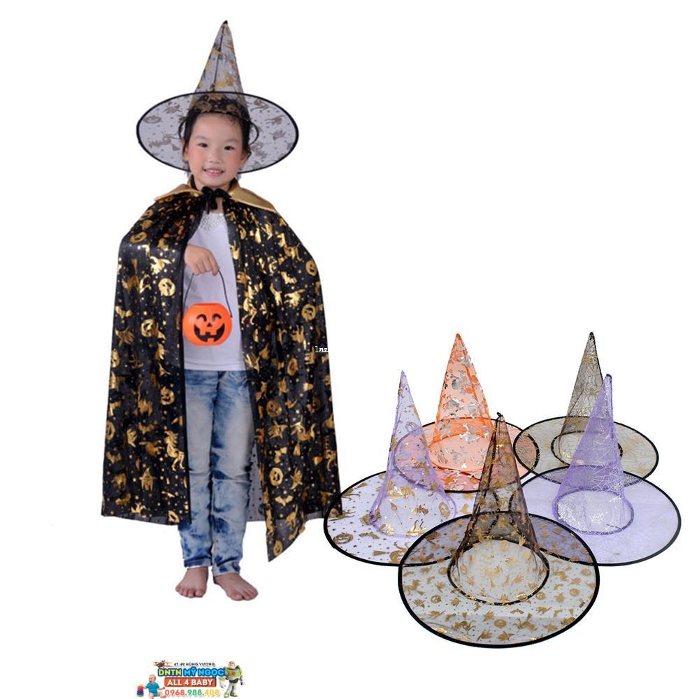 Nón phù thủy hóa trang Halloween (lưới)