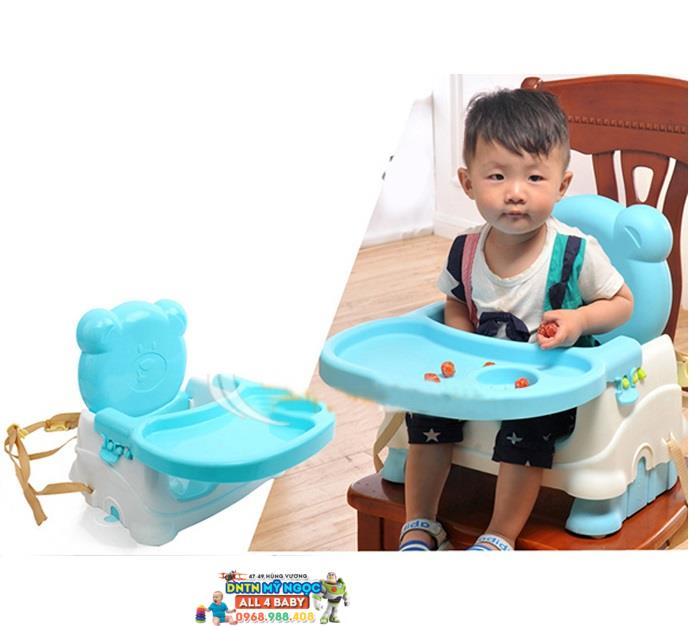 Ghế nhựa ăn bột cho bé hình gấu Teddy 7001