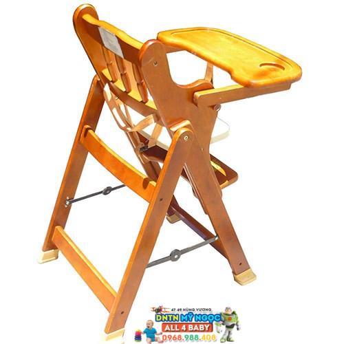 Ghế gỗ ăn bột điều chỉnh độ cao Autoru