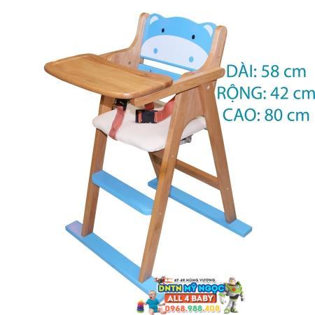 Ghế ngồi ăn cho bé bằng gỗ Song Son hình thú