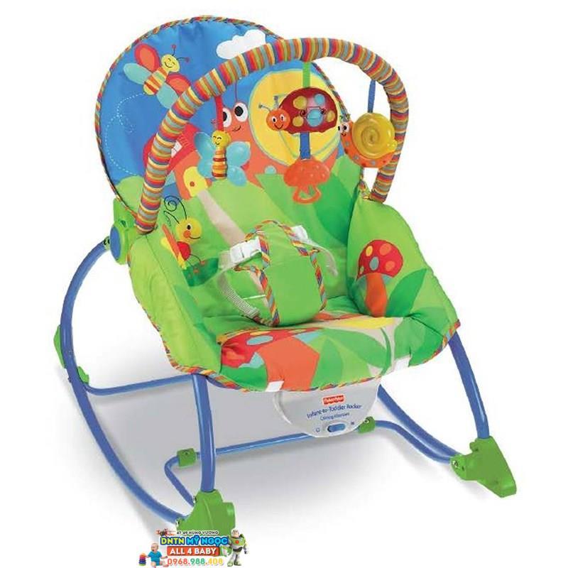 Ghế rung Fisher Price P3334 màu xanh