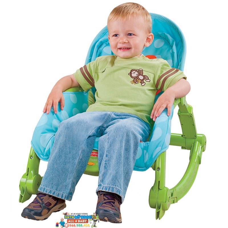 Ghế rung Fisher Price W2811 màu xanh