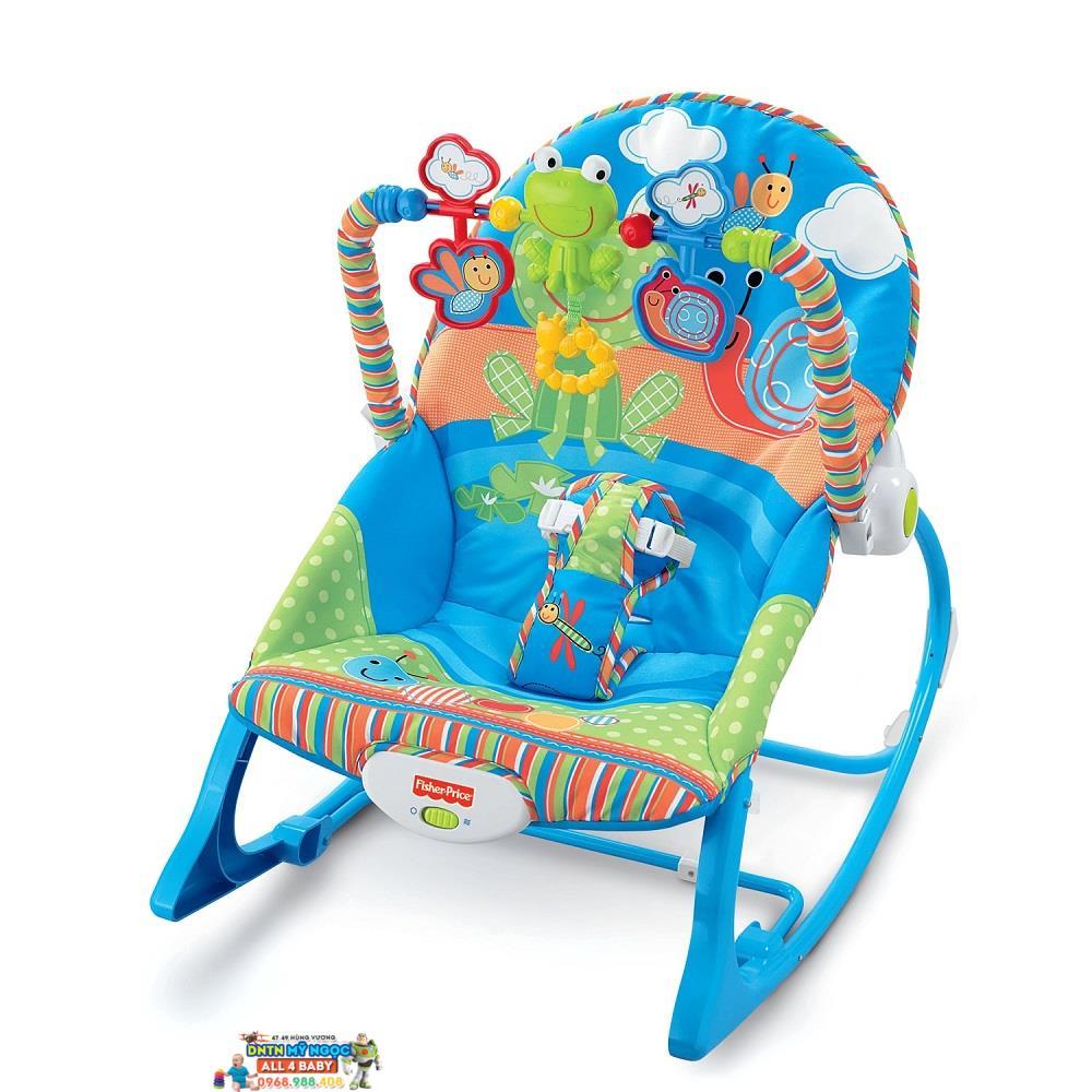 Ghế rung Fisher Price X7033 màu xanh