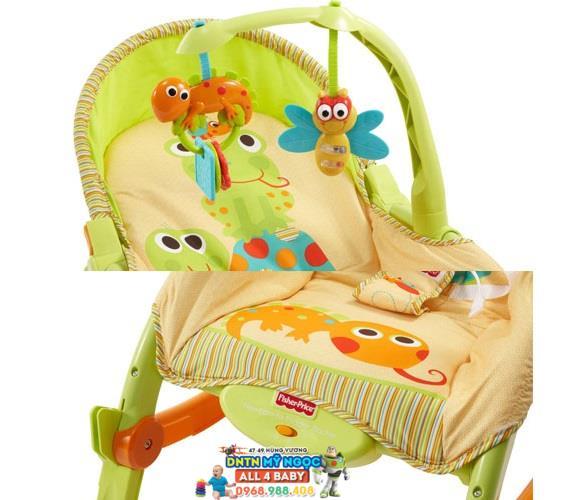 Ghế rung Fisher Price T2518 màu xanh