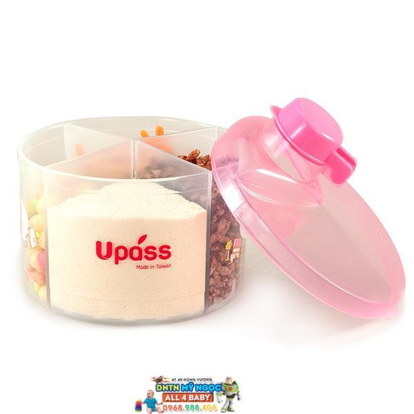 Hộp chia sữa Upass tròn 4 ngăn UP8005CH