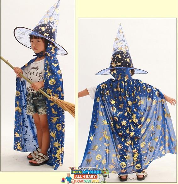 Trang phục áo choàng Halloween hóa trang phù thủy (lưới)