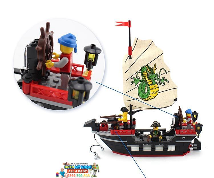 Hộp ráp tàu cướp biển Pirates Thanh Long Hải No.301
