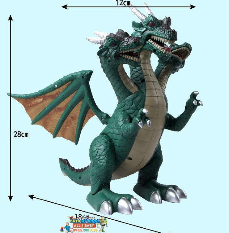 Rồng khủng long ba đầu chạy pin WS5303