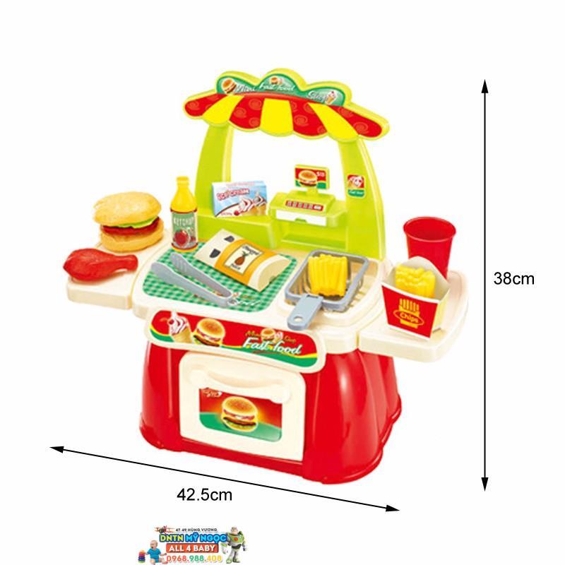 Đồ chơi nhà bếp lớn dùng pin Hamburger 889-36