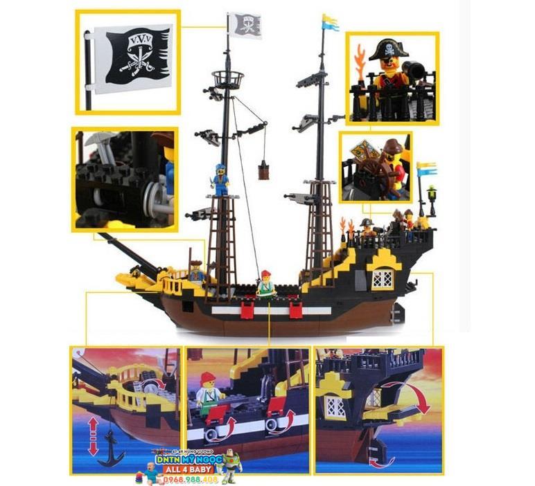 Hộp ráp tàu cướp biển Pirates hải tặc No.307