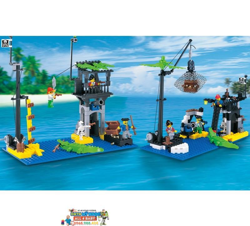 Hộp ráp tàu cướp biển Pirates đào kho báu No.302