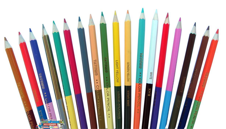 Bút chì màu gỗ Kiko 18 cây 36 màu