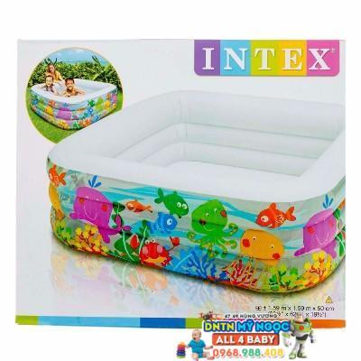 Hồ phao Intex vuông cho bé 57471