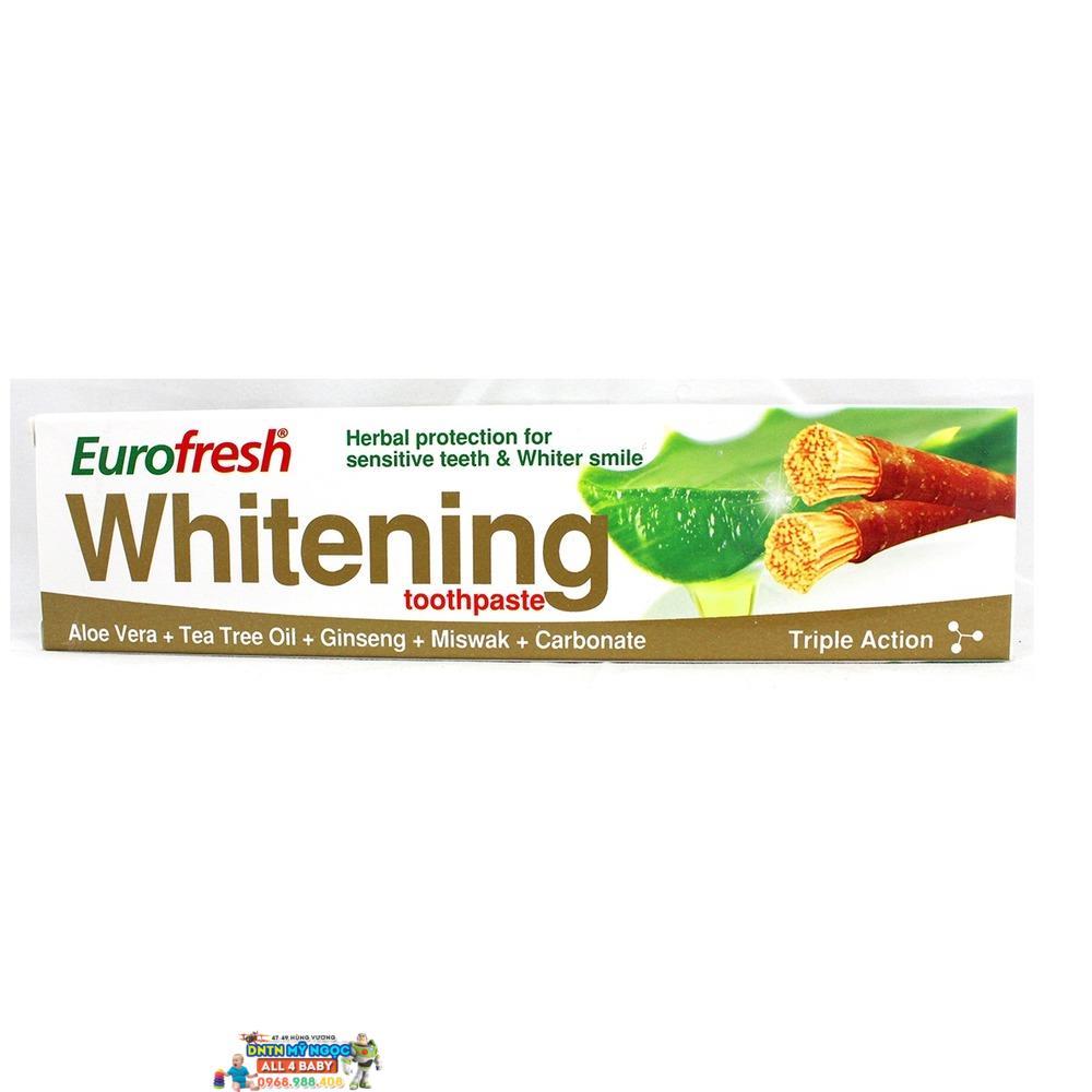 Kem đánh răng Farmasi Whitening lô hội 112g