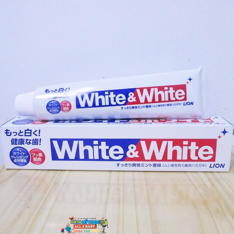 Kem đánh răng White & White Lion - Nhật