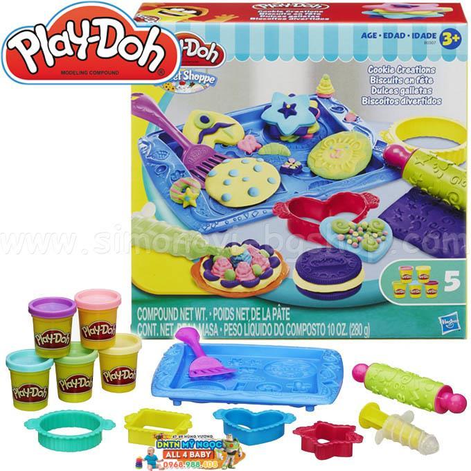 Bộ đất nặn Playdoh khay bánh ngọt ngào B0307