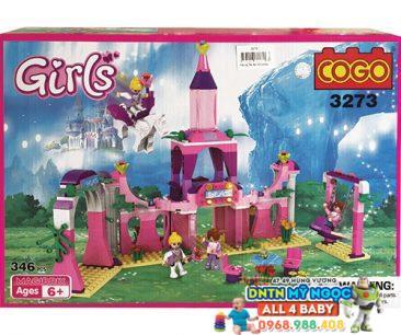 Lắp ráp lego lâu đài công chúa 3273