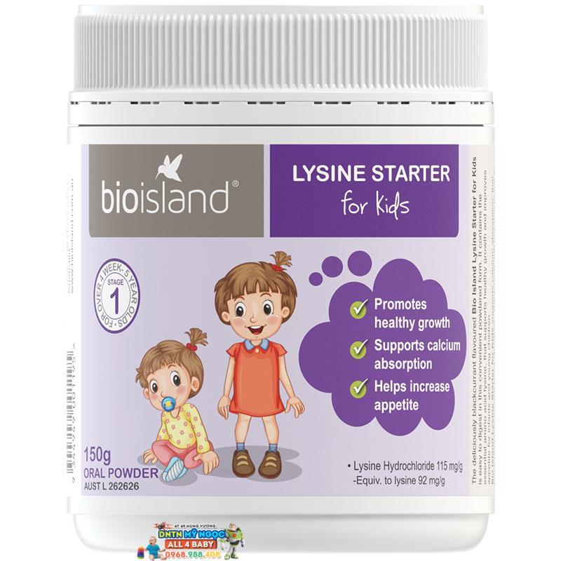 Thuốc tăng chiều cao dạng bột cho bé BIO ISLAND LYSINE