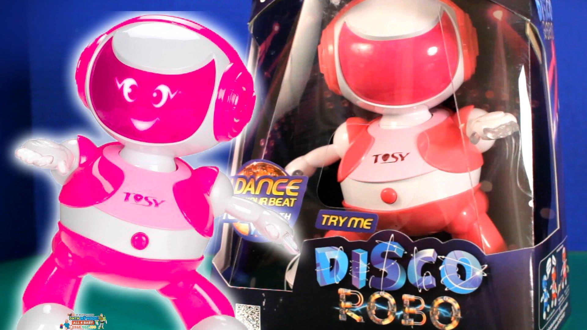 Đồ chơi Disco Robo Tosy - Ruby màu hồng phiên bản mới (Kèm Loa)