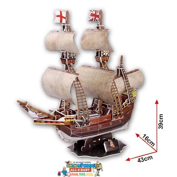 Xếp hình 3D Tàu MayFlower