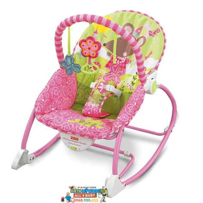 Ghế rung Fisher Price W2583 màu hồng