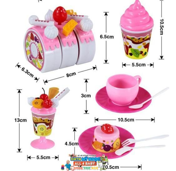 Đồ chơi bánh sinh nhật Luxury fruit cake FDE801