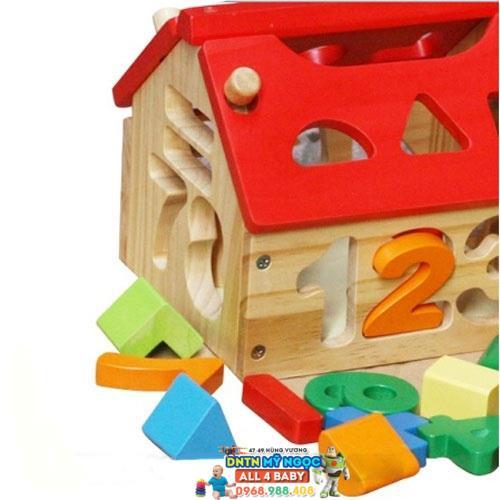 Đồ chơi gỗ Veesano - Ngôi nhà đồ chơi toán học VM255