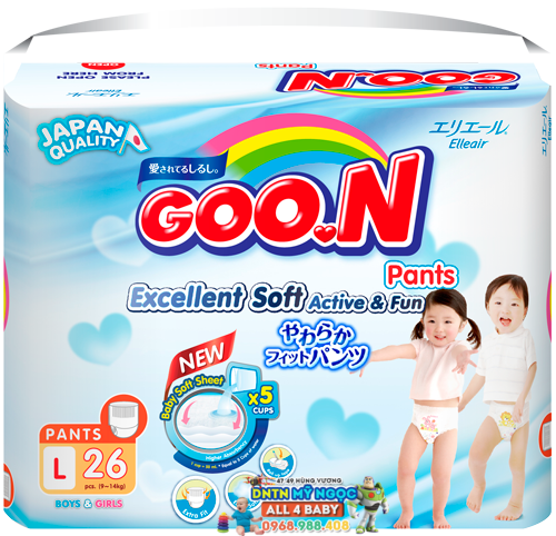 Tã quần Goon Renew  Slim các size (bịch trung)