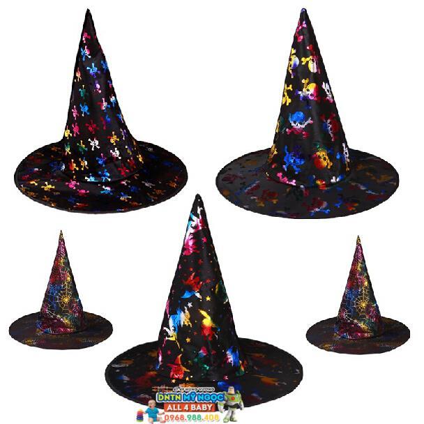 Nón phù thủy hóa trang Halloween (vải)