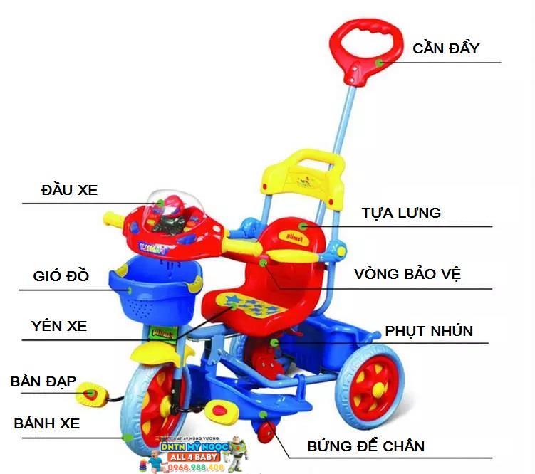 Xe đạp đẩy 3 bánh phụt nhún Family F-955