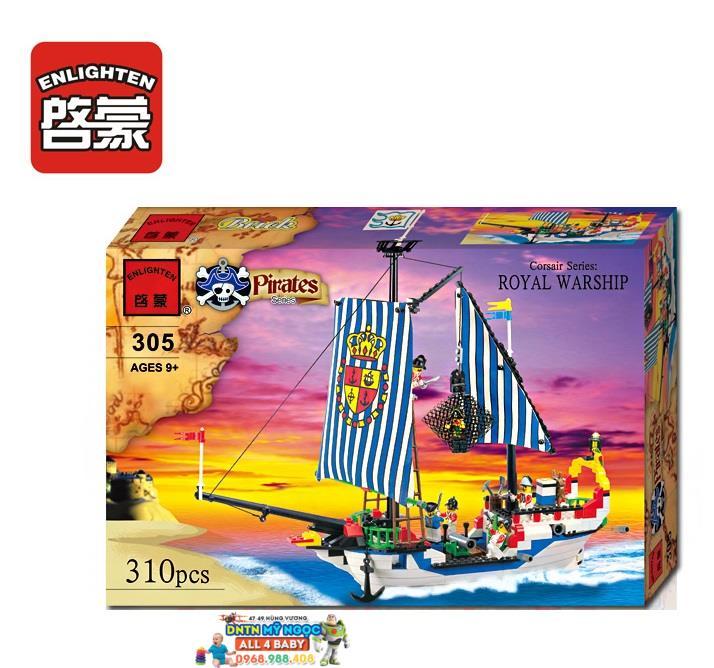 Hộp ráp tàu cướp biển Pirates thuyền Hoàng Gia No. 305