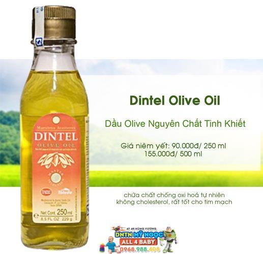 Dầu dinh dưỡng Olive Dintel nguyên chất tinh khiết