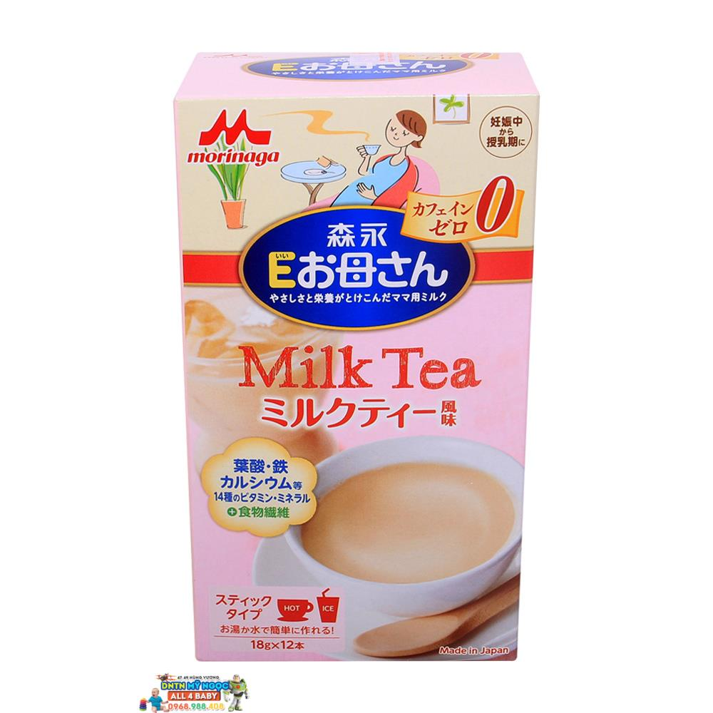Sữa bà bầu Morinaga 12 gói - 216G vị trà sữa