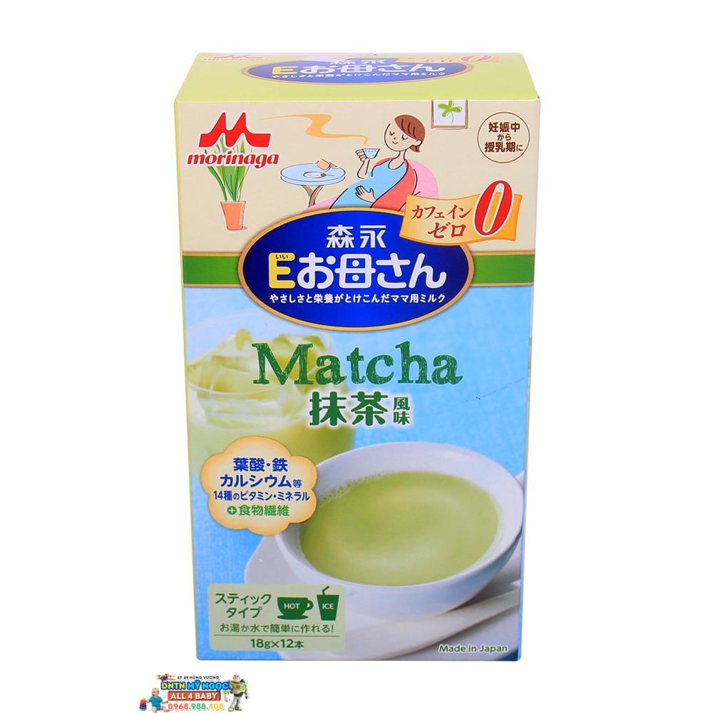 Sữa bà bầu Morinaga 12 gói - 216G vị trà xanh