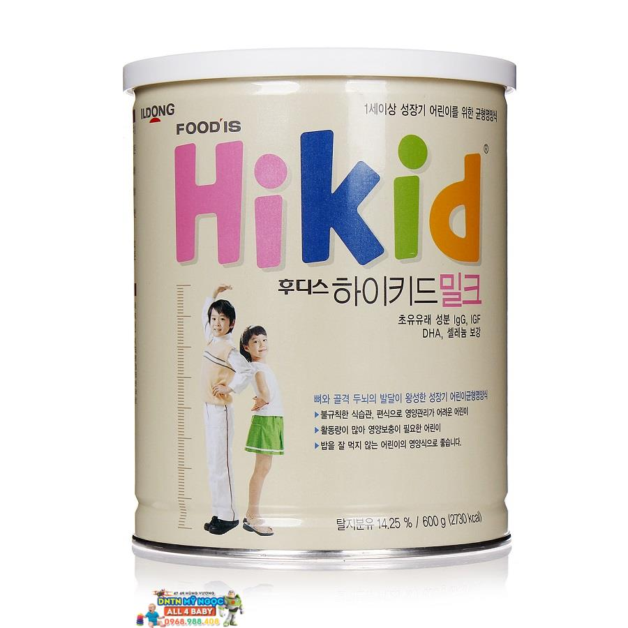 Sữa Cừu Hikid Food IS 600g vani tăng cân (1-9 tuổi)