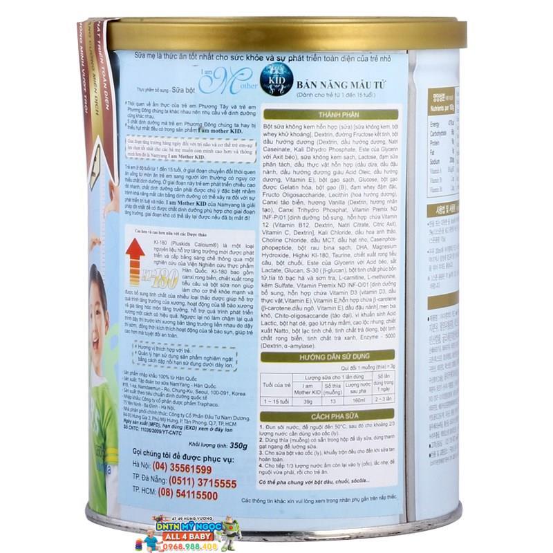 Sữa I am Mother Kid 660g dành cho trẻ từ 1 đến 15 tuổi