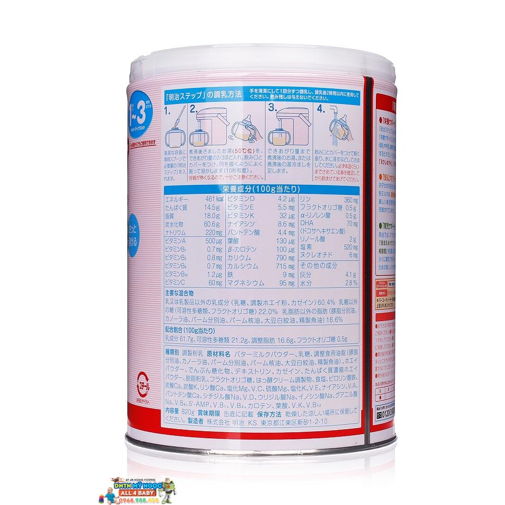 Sữa Meiji số 9 dạng bột 820gr (1-3 tuổi)