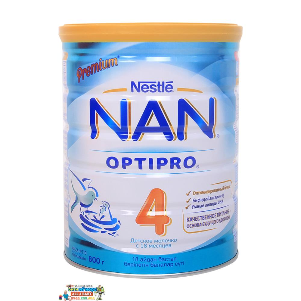 Sữa NAN Optipro Nga số 4 (800g) (18 tháng +)